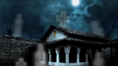 Frightening House In Moonlight